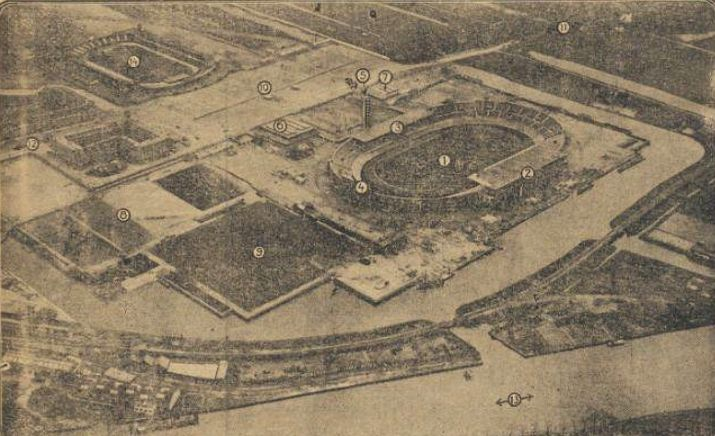 Plaatsen Rond Amsterdam.Geheugen Van Plan Zuid 1928 28 April Overzicht Olympisch